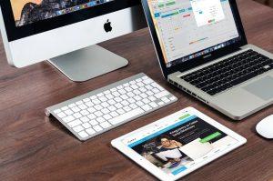 desktop laptop and iPad